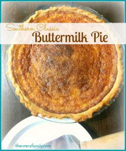 Buttermilk Pie made from scratch