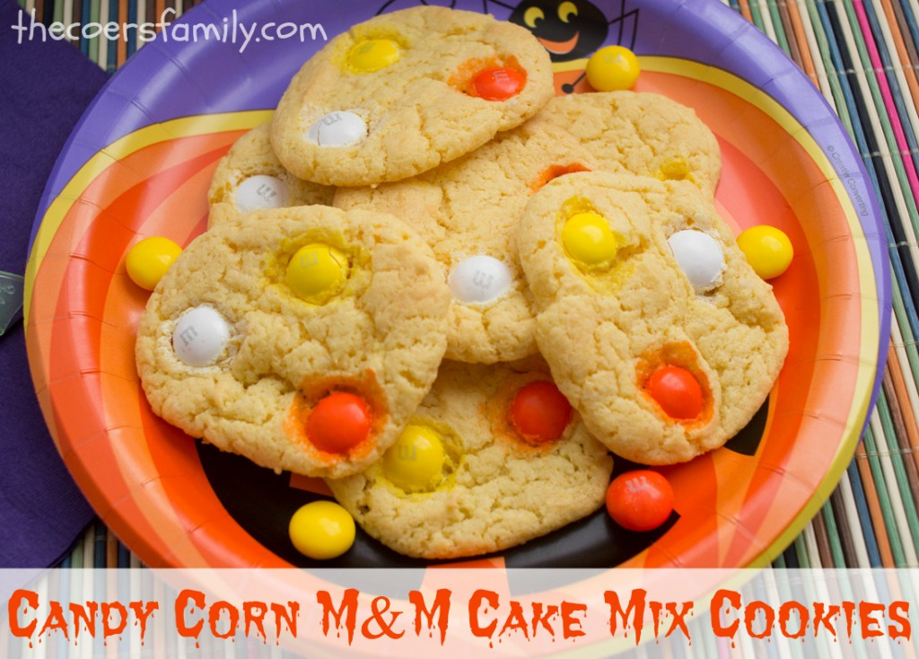 Cake Mix Cookies with fun Candy Corn M&Ms are a great Halloween treat ...