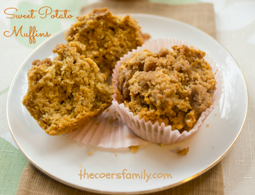 Sweet Potato Muffins - made easy with cake mix