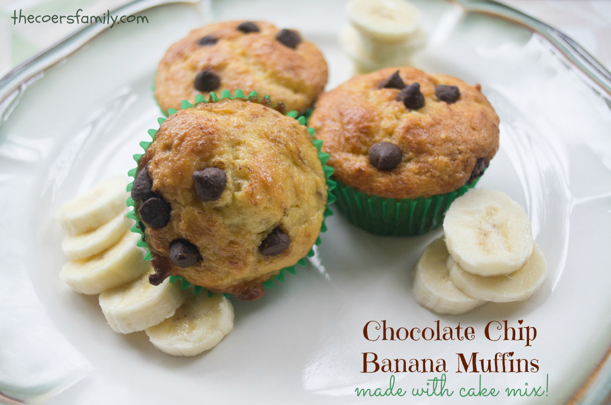 Recipe For Banana Muffins Using Cake Mix