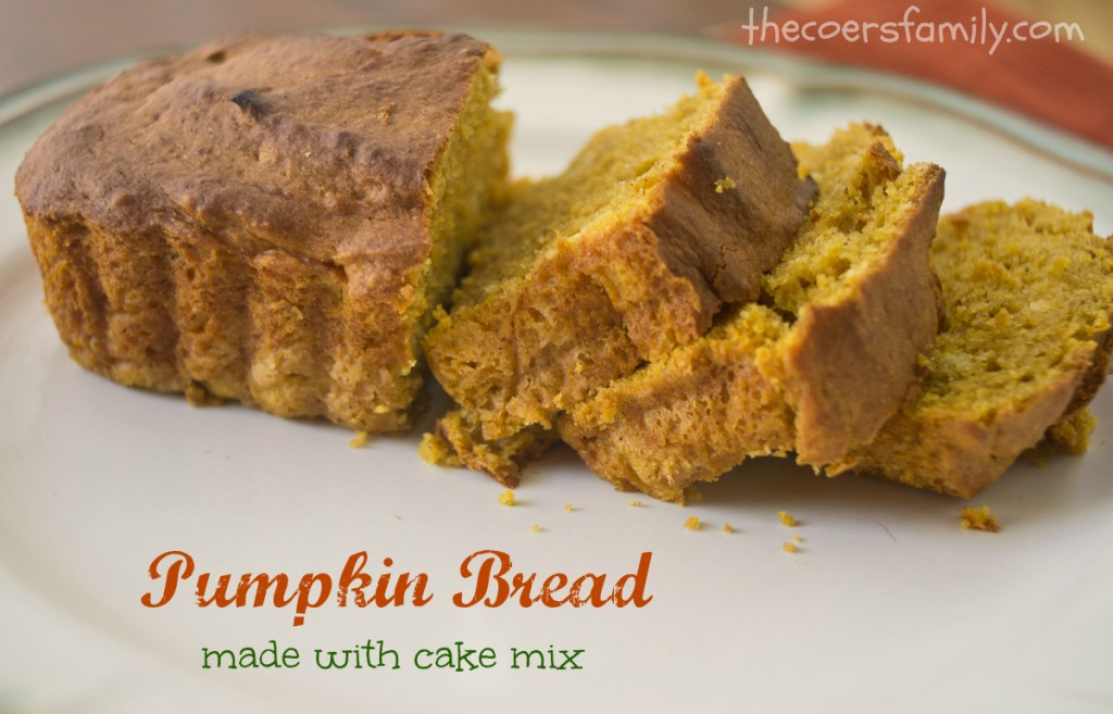 Recipe For Pumpkin Bread Using Cake Mix