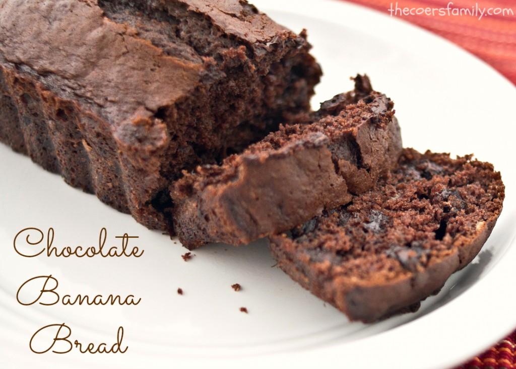 Chocolate Banana Bread - made with cake mix - The Coers Family