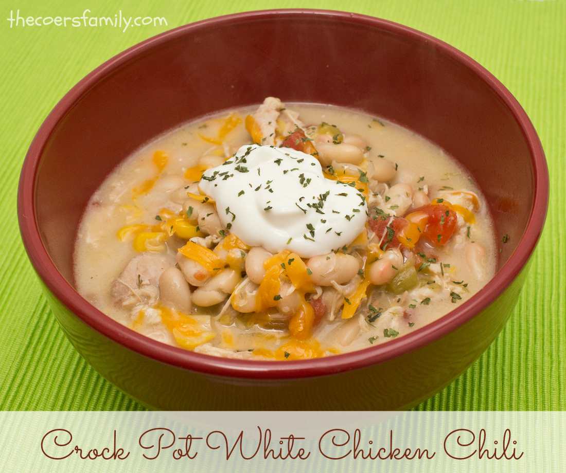 Crock Pot White Chicken Chili - The Coers Family