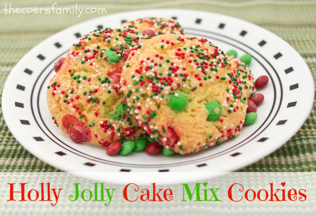 Holly Jolly Cake Mix Cookies