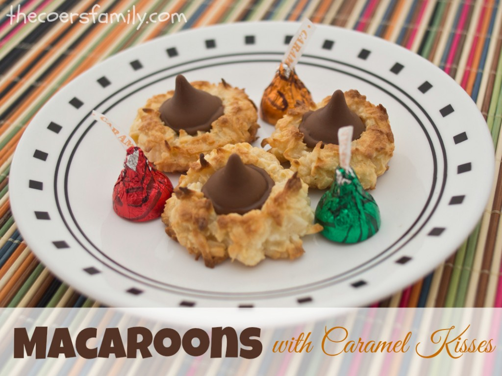 Coconut Macaroons with Caramel Kisses