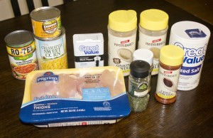 ingredients for Crock Pot White Chicken Chili