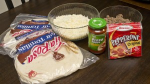 ingredients for pizza enchiladas