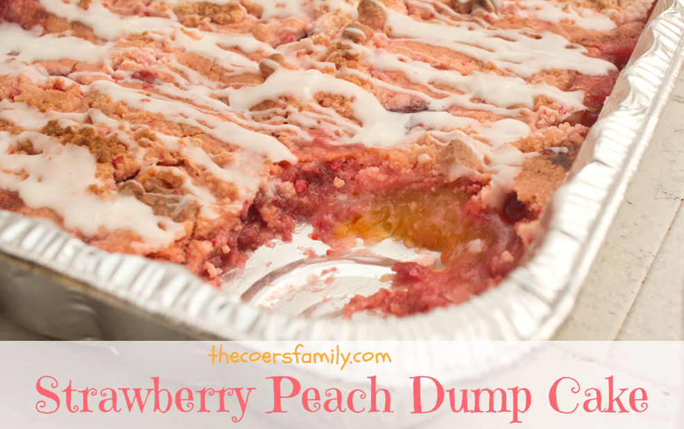 Strawberry Peach Dump Cake from thecoersfamily.com