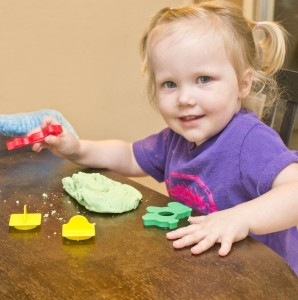 Happy Helpers with scented play dough