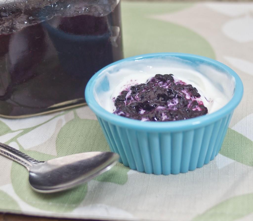 Greek yogurt with Blueberry Ginger Chia Seed Preserve