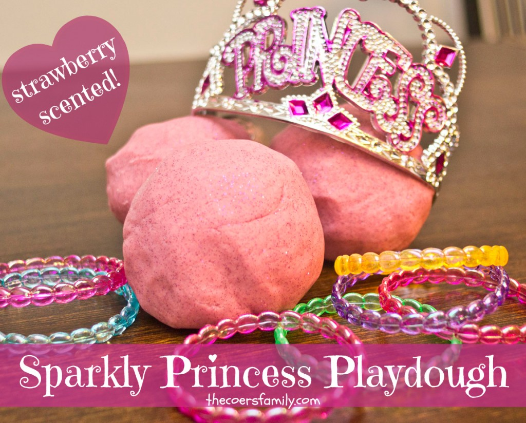 Sparkle Princess Playdough from thecoersfamily.com