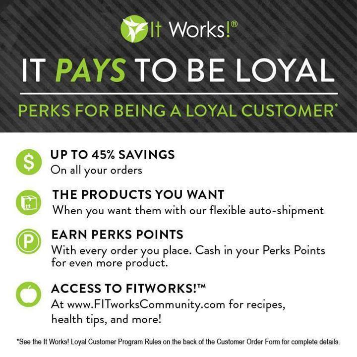 It Pays to be a Loyal Customer with It Works