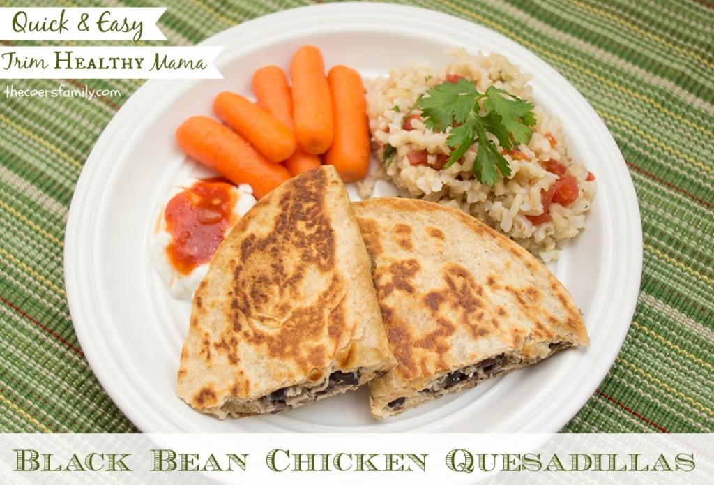 Trim Healthy Mama Black Bean Quesadillas