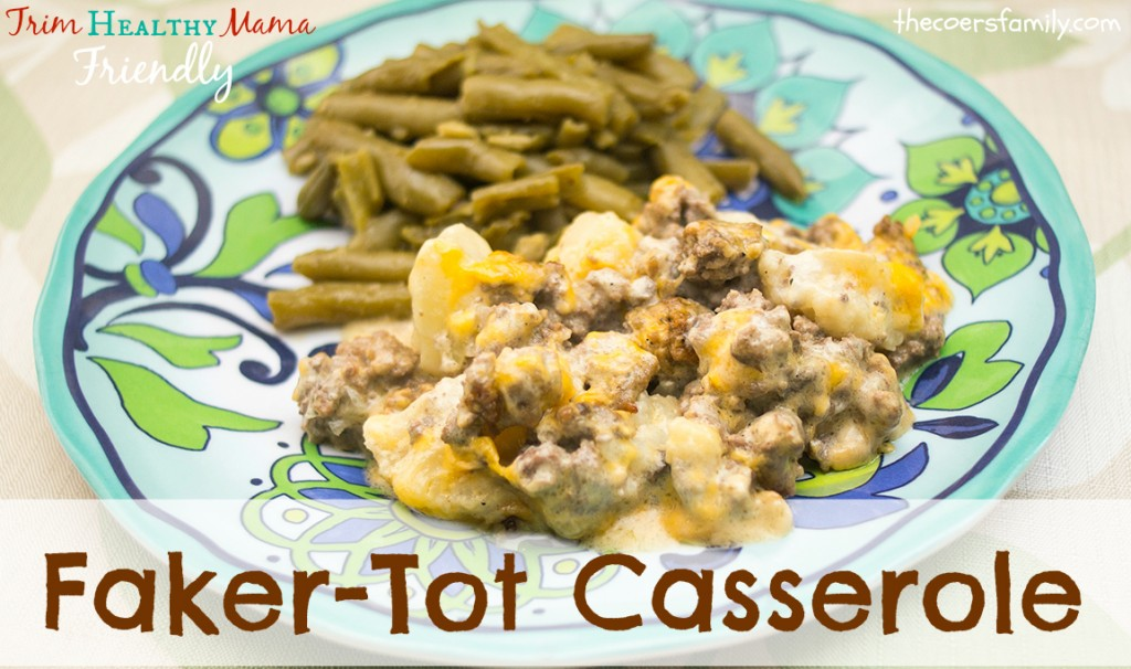 Fakertot Casserole is low carb, and full of flavor!