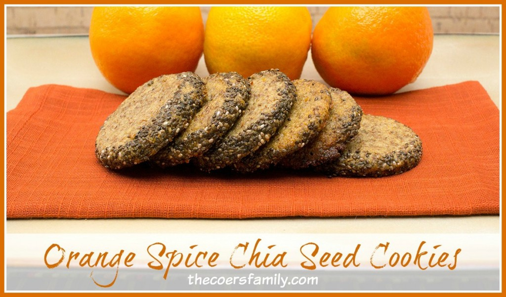 Orange Spice Chia Seed Cookies from thecoersfamily.com