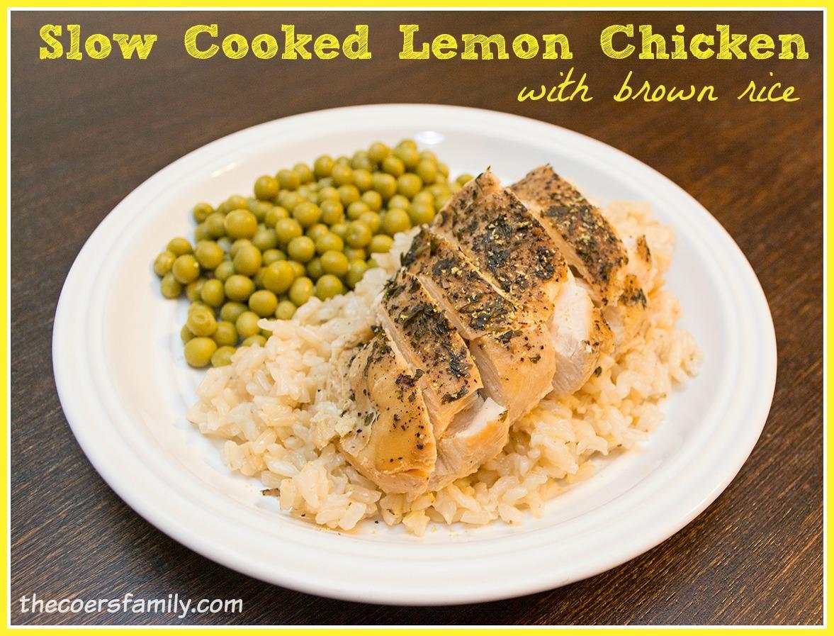 Slow Cooked Lemon Chicken